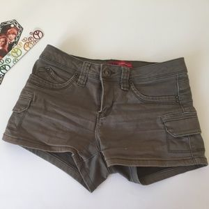 YMI Olive Green Jean Shorts